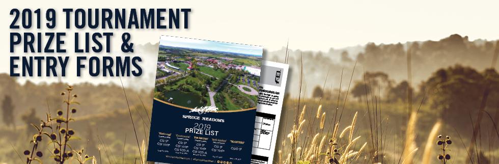 Spruce Meadows: Spruce Meadows Prize List & Documentation
